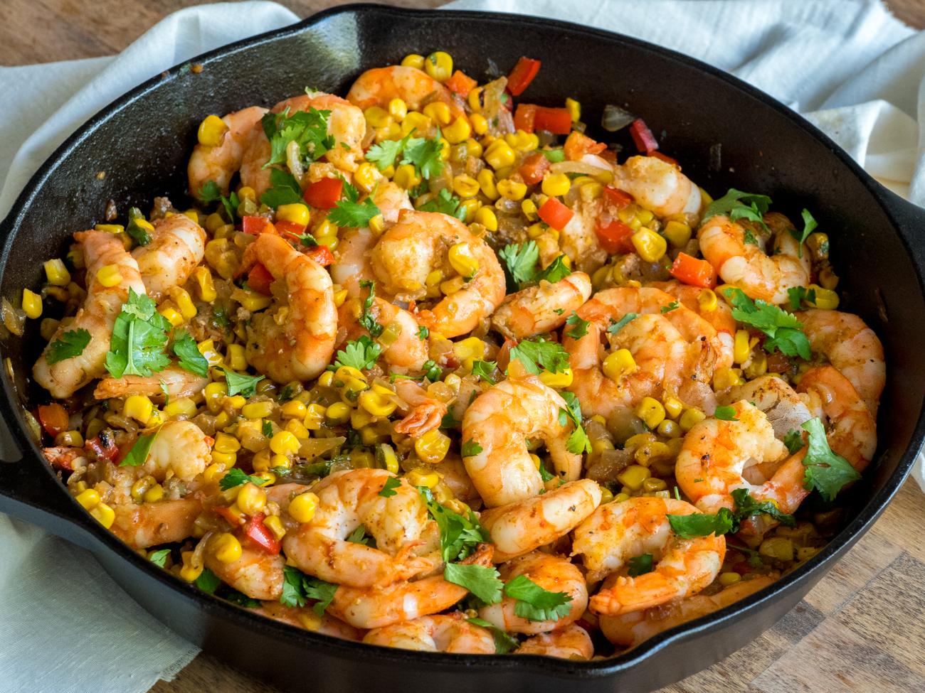 Roasted Shrimp With Corn Salsa