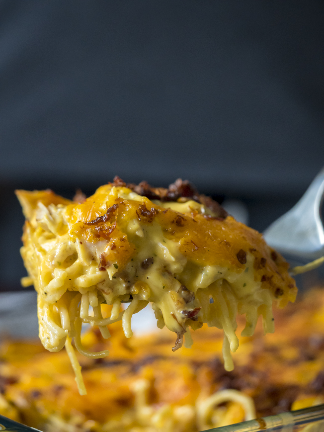 Cheesy Crack Chicken Spaghetti Bake – 12 Tomatoes