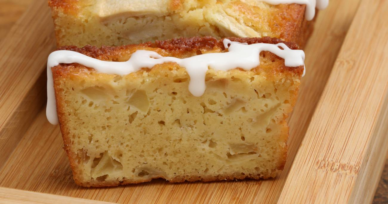 Frosted Buttermilk Apple Cake Loaf