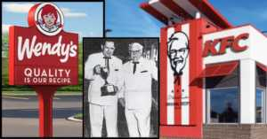 Dave Thomas and Colonel Sanders