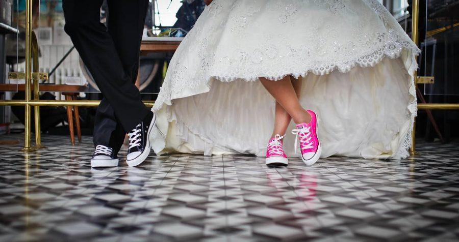 converse wedding
