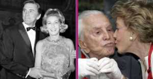 Kirk Douglas and his wife