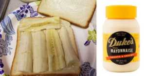 banana and mayo sandwiches