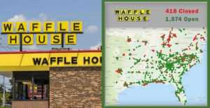 Waffle House to close 400 locations