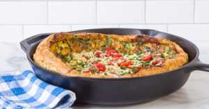 Caprese Salad Savory Dutch Baby
