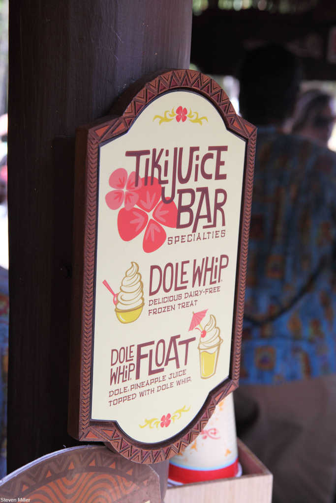 Disneyland Tiki Juice Bar sign