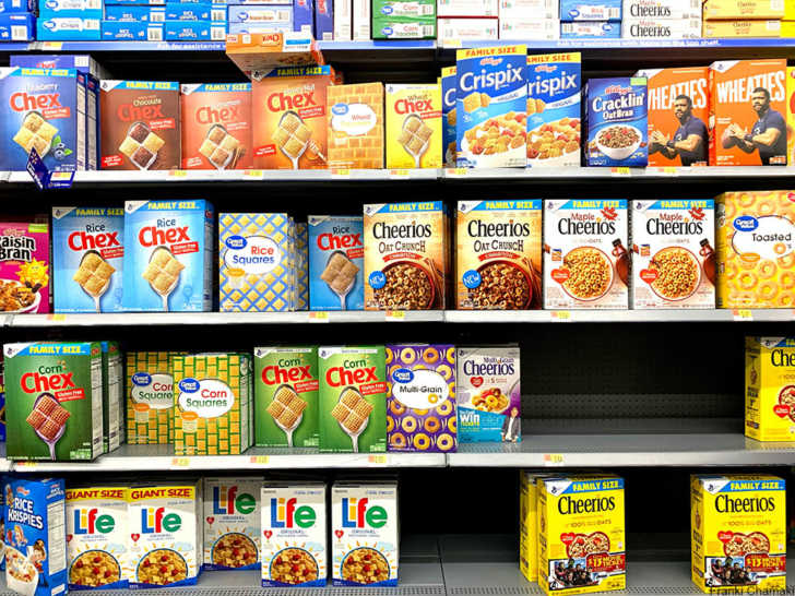 grocery store cereal aisle