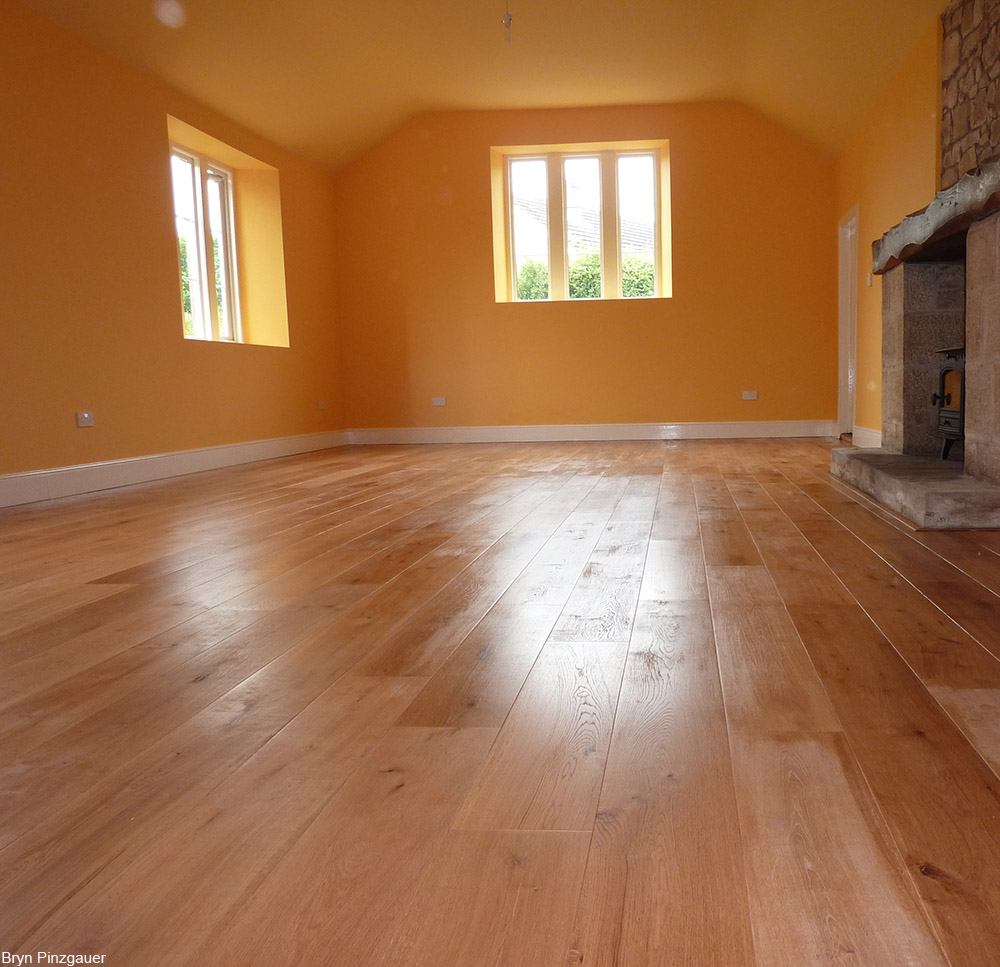 waxed wood floor