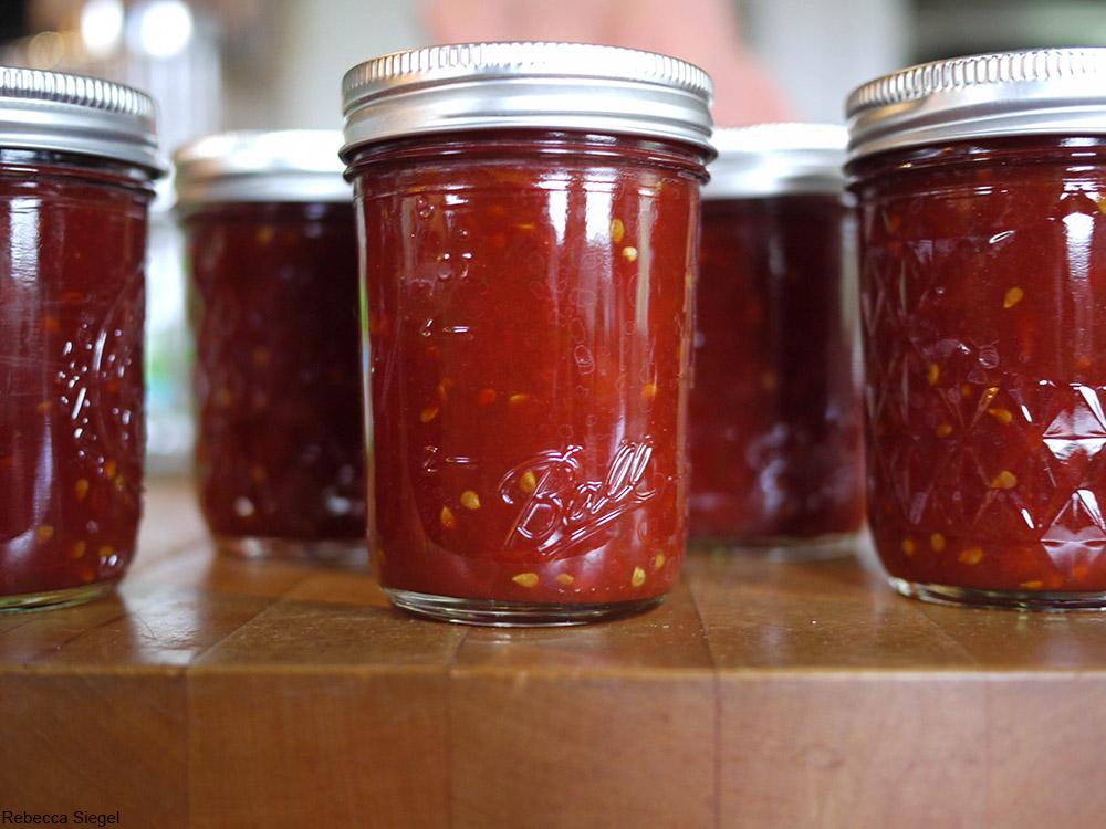 jars of Tomato jam