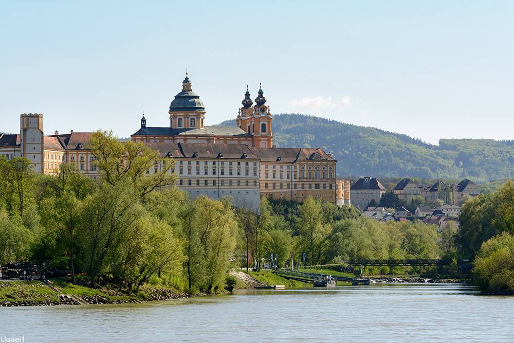 Melk Abbey from afar