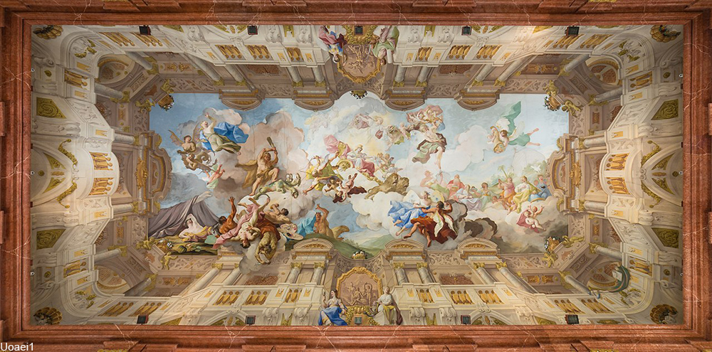 Melk Abbey library ceiling fresco