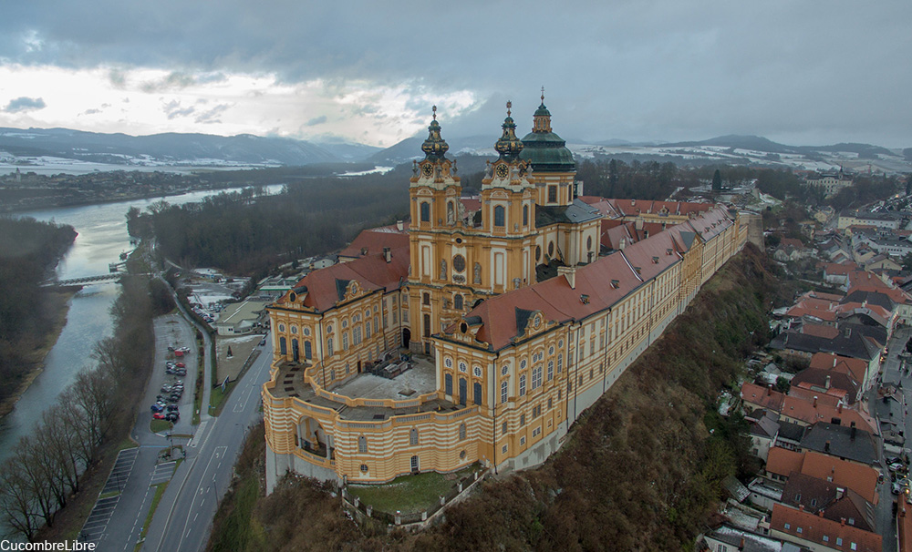 Melk Abbey as seen from above