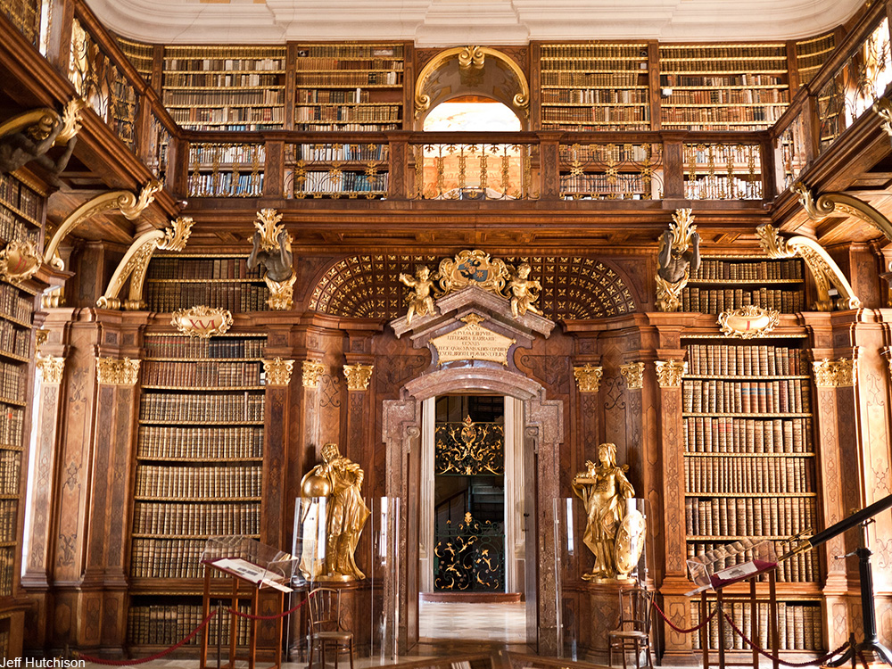grand library at Melk Abbey