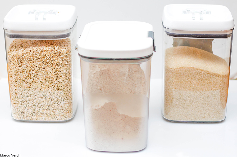dry goods in airtight containers