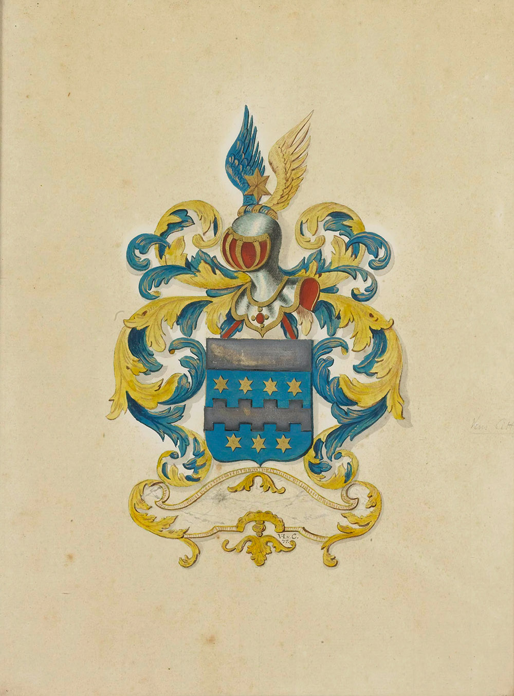 historical coat of arms of Citter family