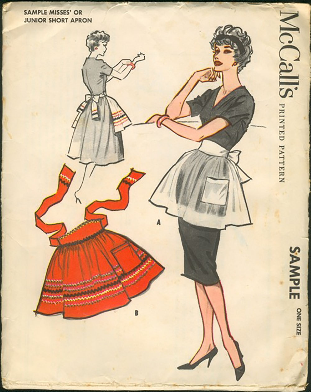 vintage 1960s party apron