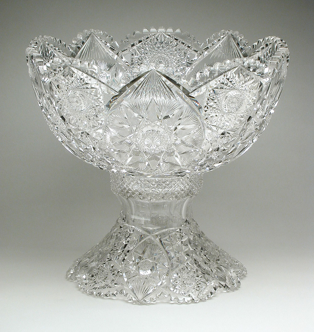 cut glass footed bowl from Meriden Cut Glass Company