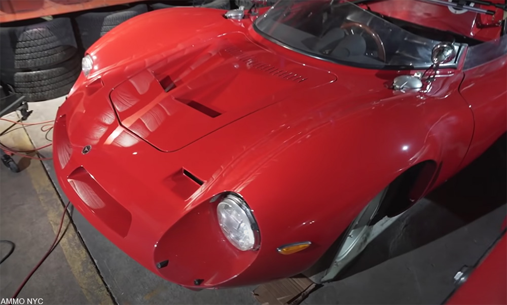 rare 1960s Bizzarrini P538 being detailed