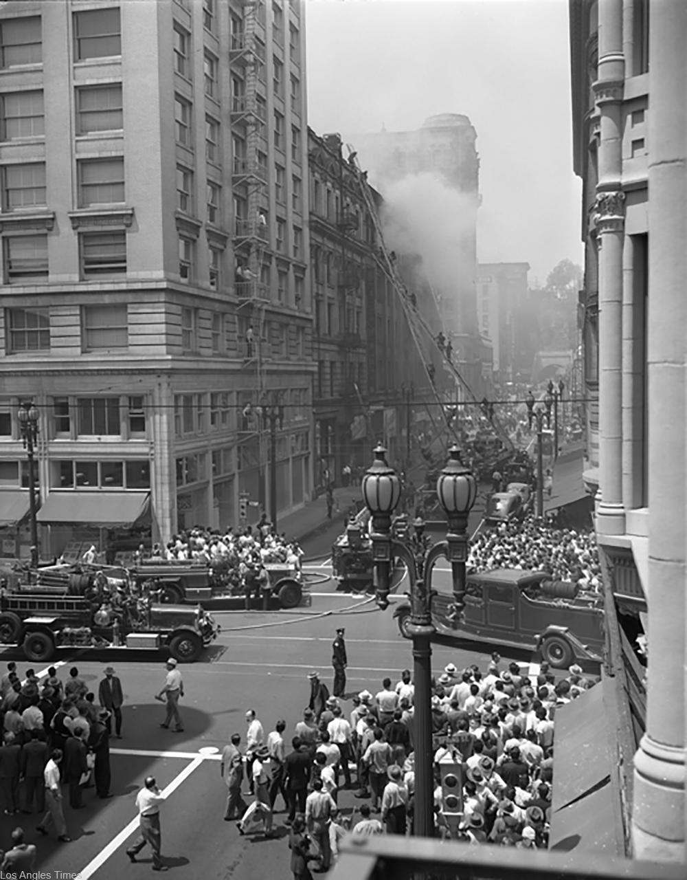 Bradbury Building fire in 1947