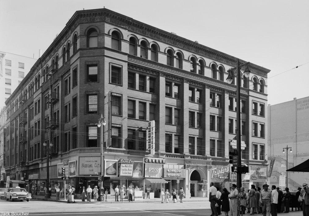 the Bradbury building in 1960