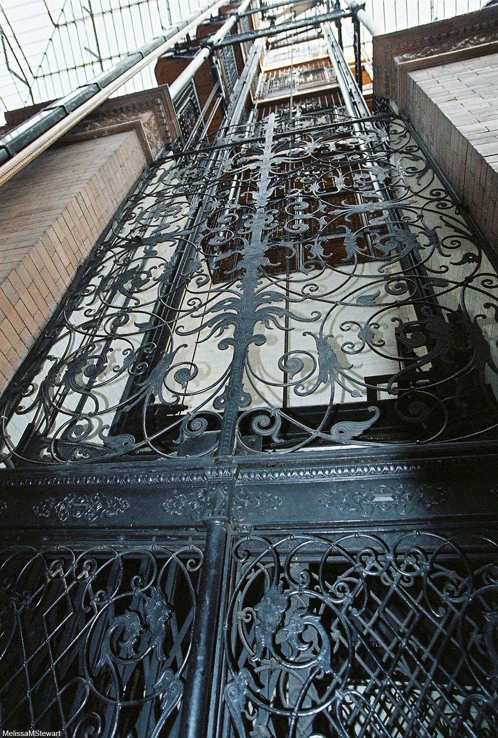 Bradbury Building elevator shaft decoration