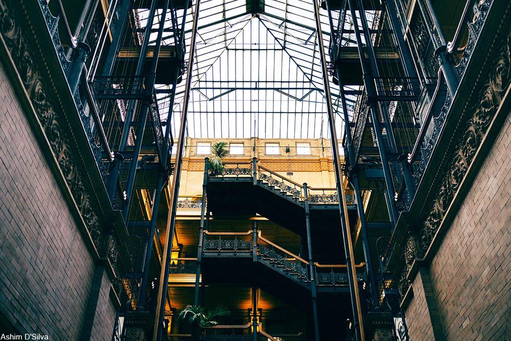 Bradbury Building atrium glass ceiling