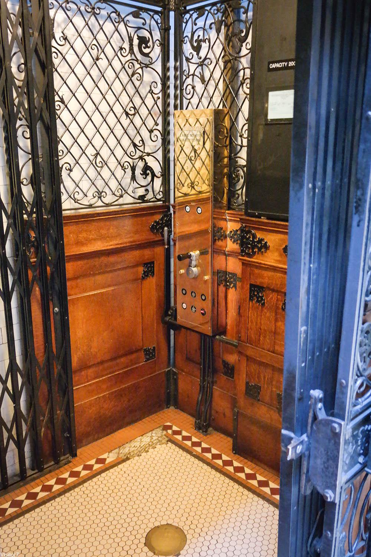 Bradbury Building elevator interior