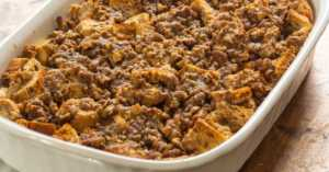 Raisin Bread Sausage Casserole