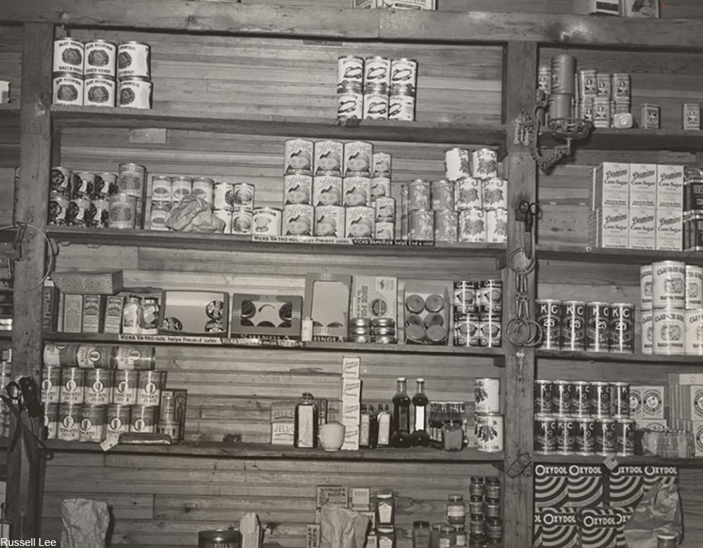 Grocery store near Vian, Oklahoma, 1939