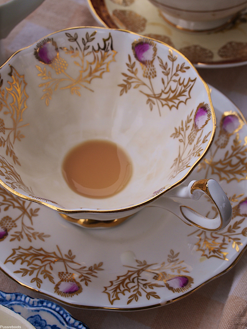 lustreware teacup and saucer