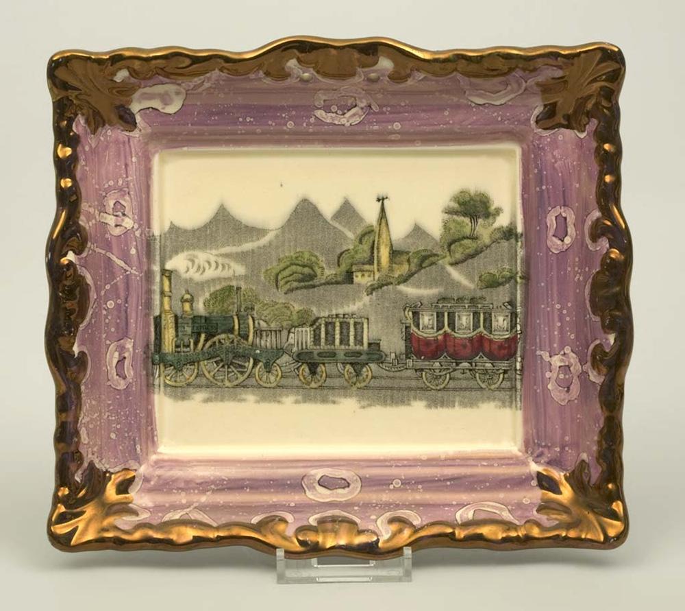 19th century Sunderland china plaque