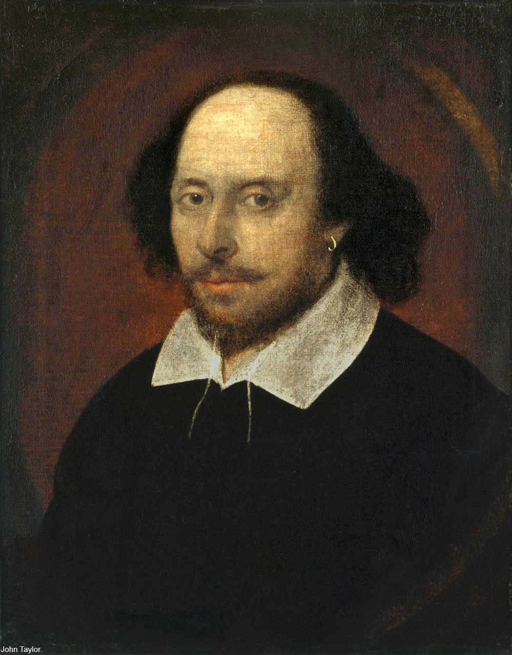 1610 portrait of William Shakespeare
