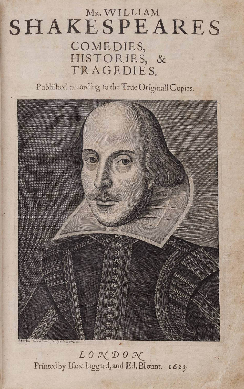 first folio of William Shakespeare's works