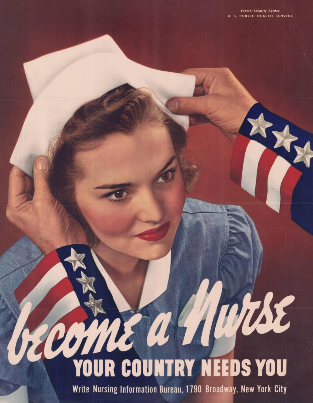 WWII poster encouraging women to become nurses