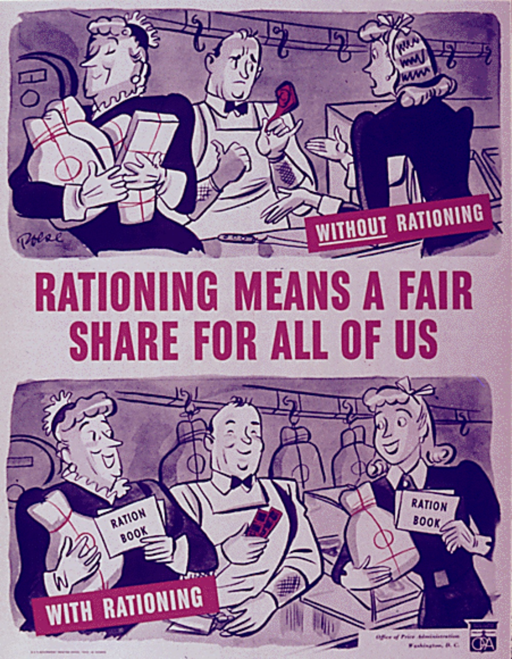 rationing poster from WWII