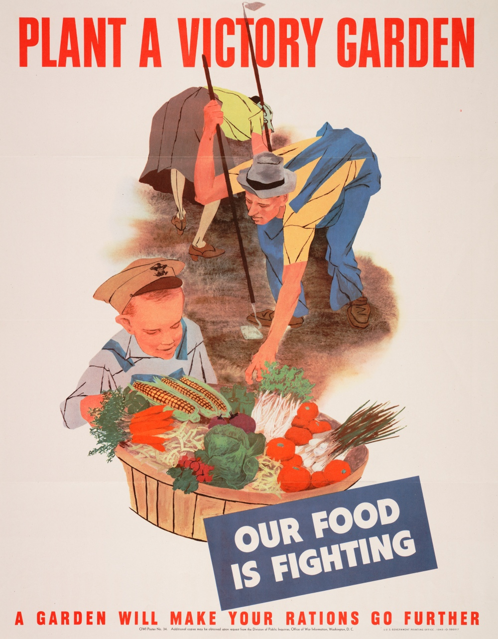 victory garden WWII poster