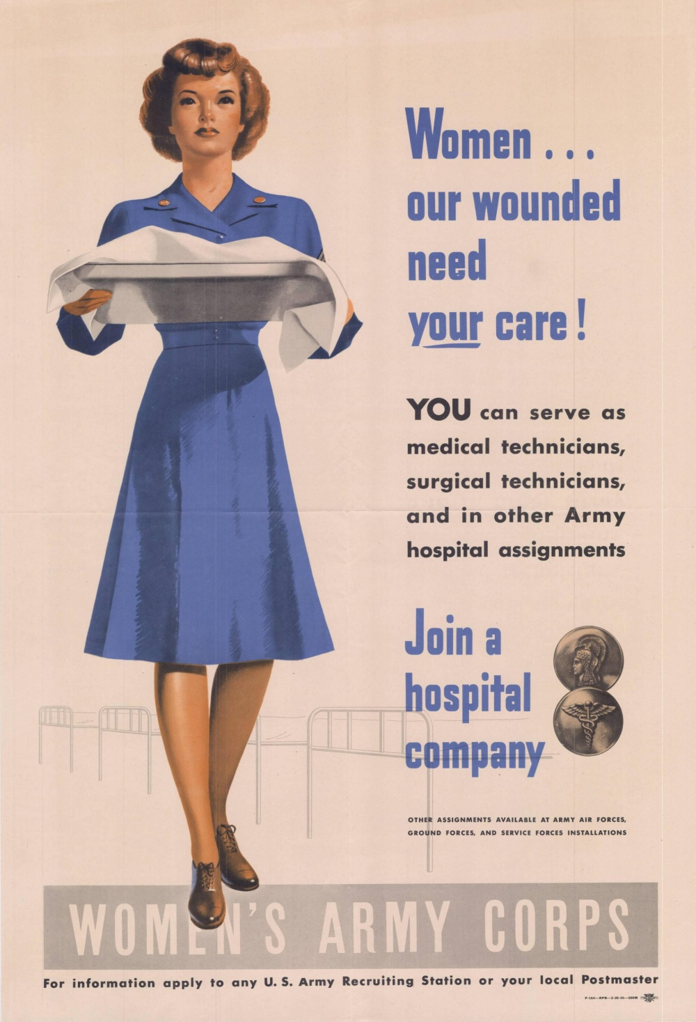 wwii poster seeking enlistment for the Women's Army Corps