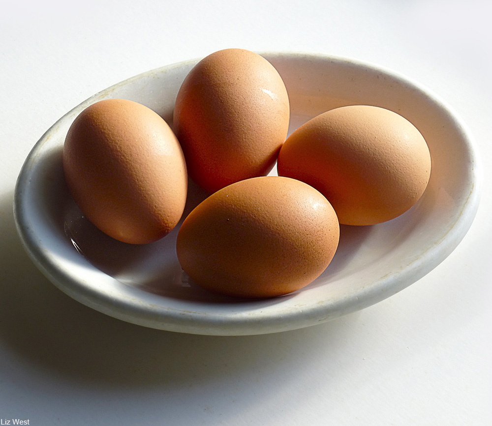 plate of brown eggs