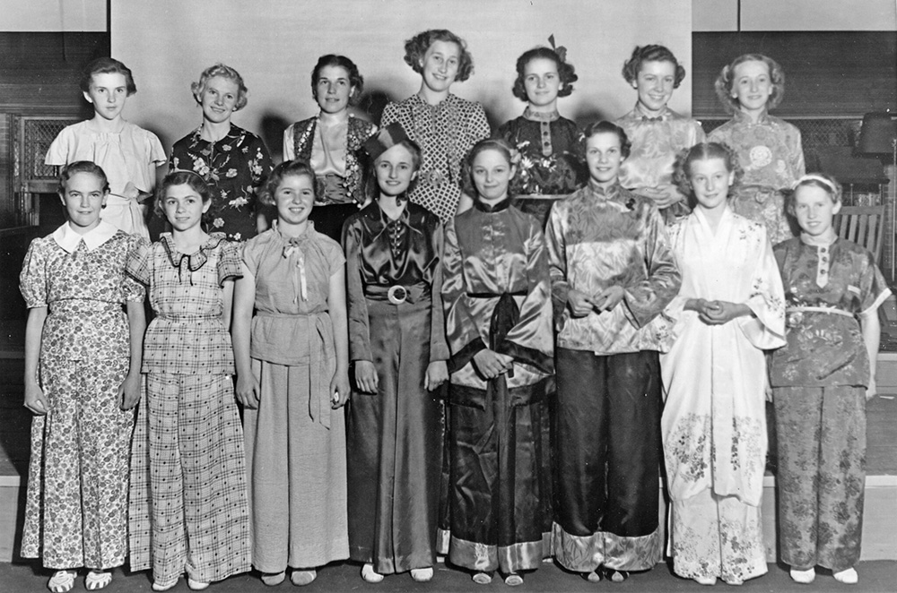 1934 homemade pajamas contest put on by 4-H