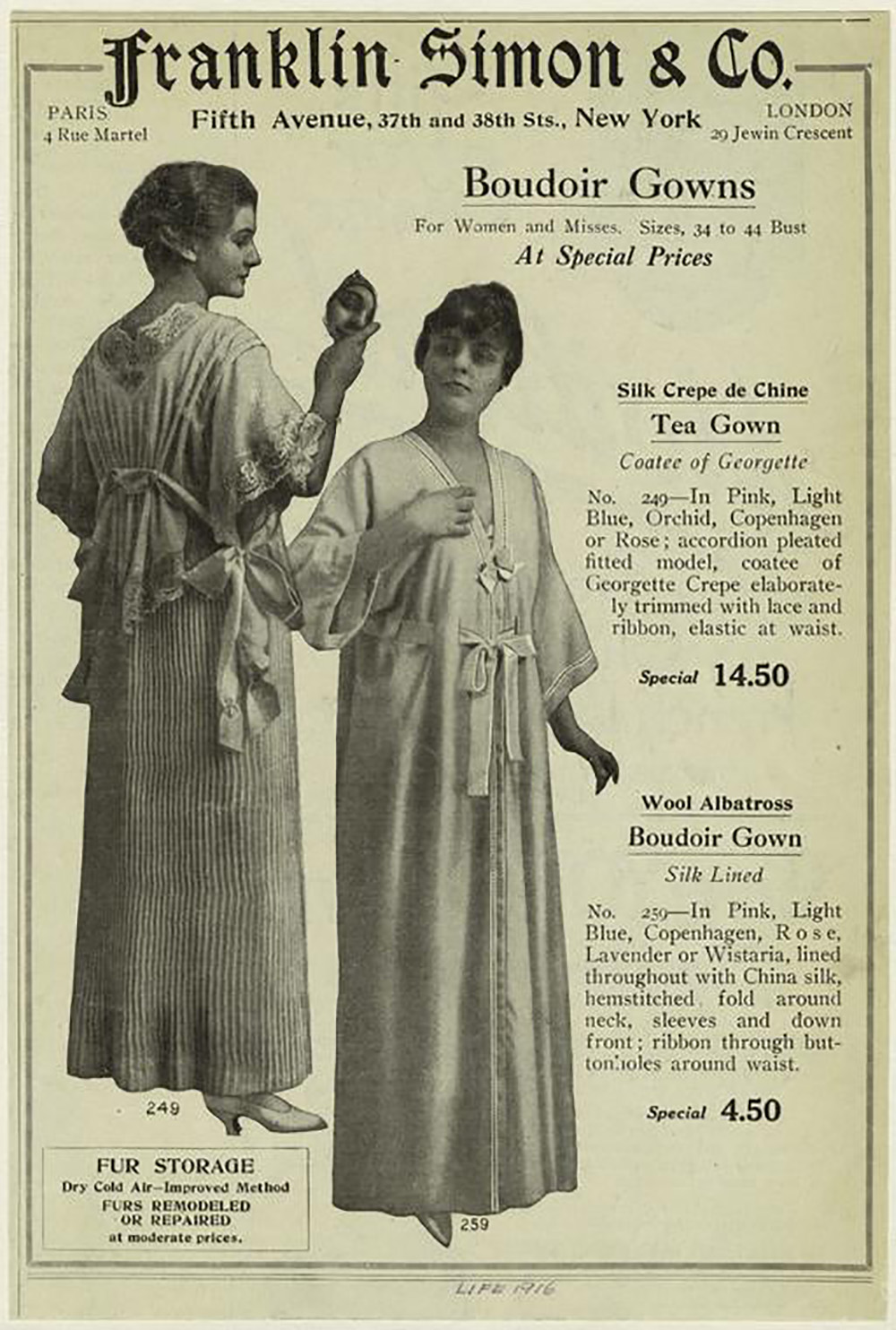 boudoir gowns from 1916