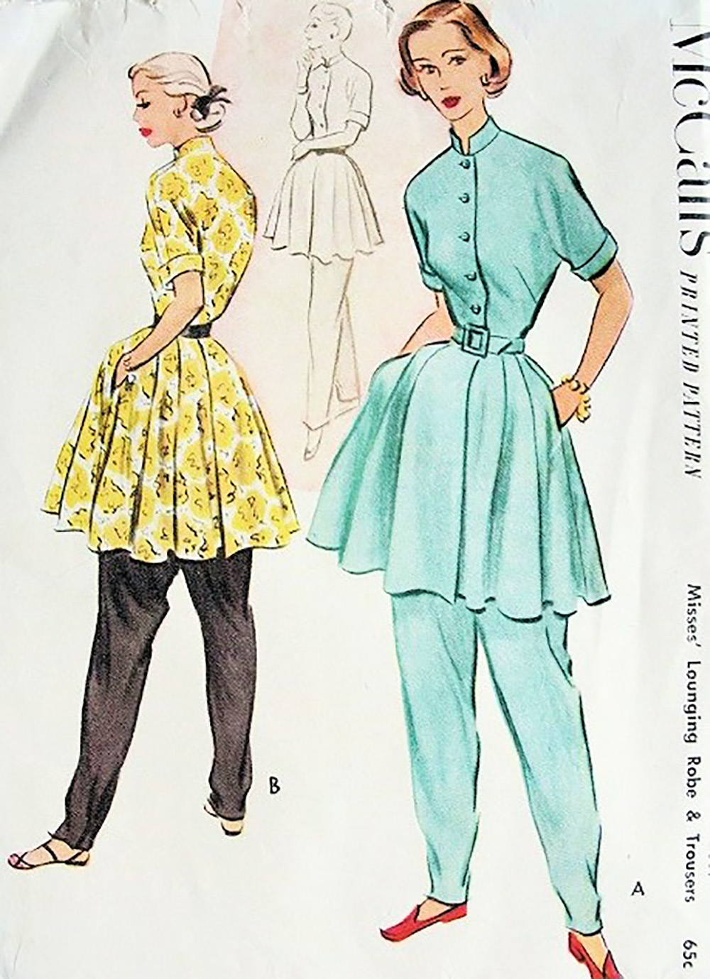 ladies loungewear sewing pattern from 1951