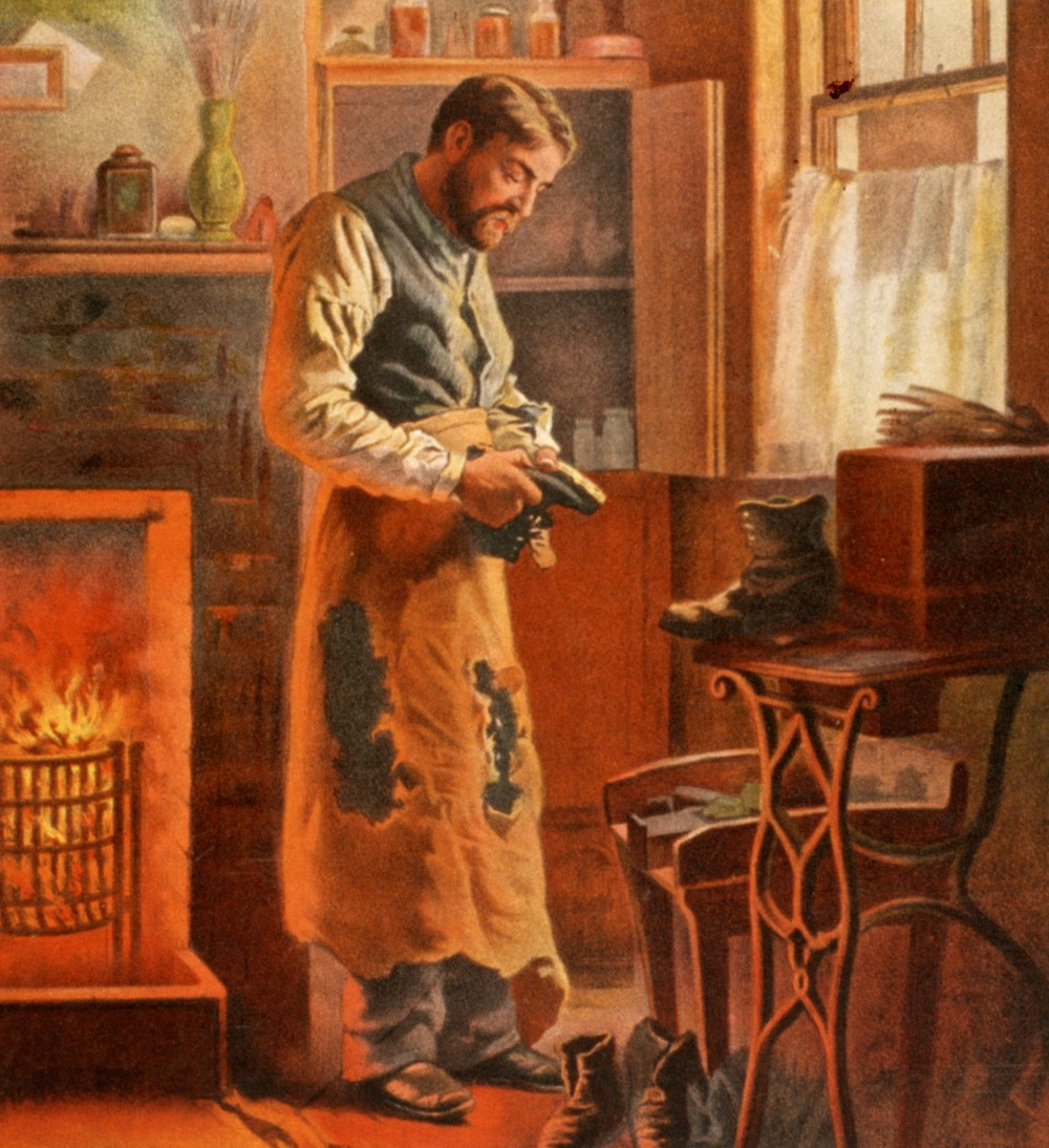 poster for the play, The Shoemaker, 1907