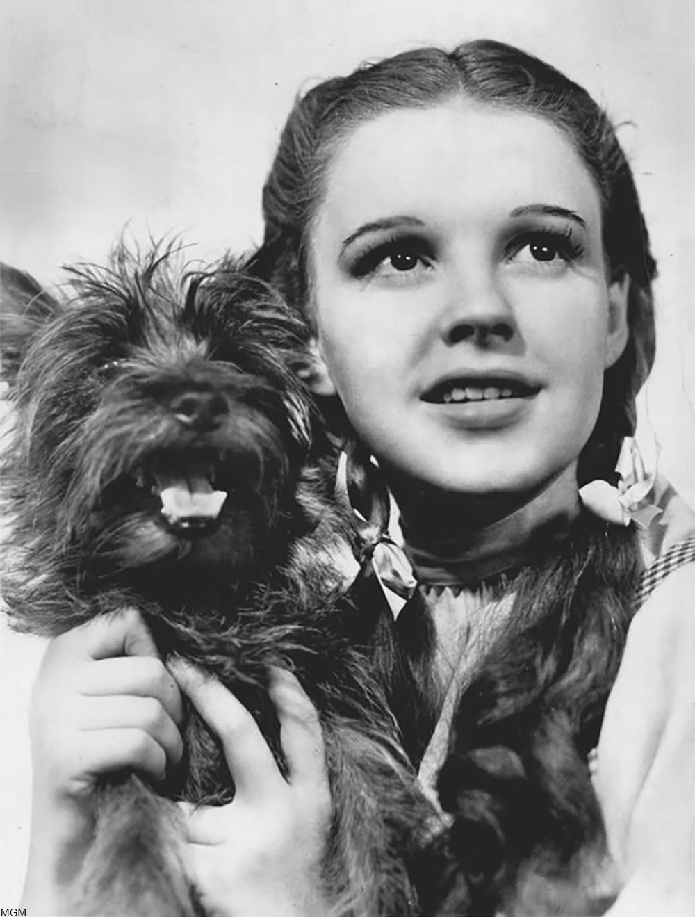 Judy Garland in a publicity photo for The Wizard of Oz