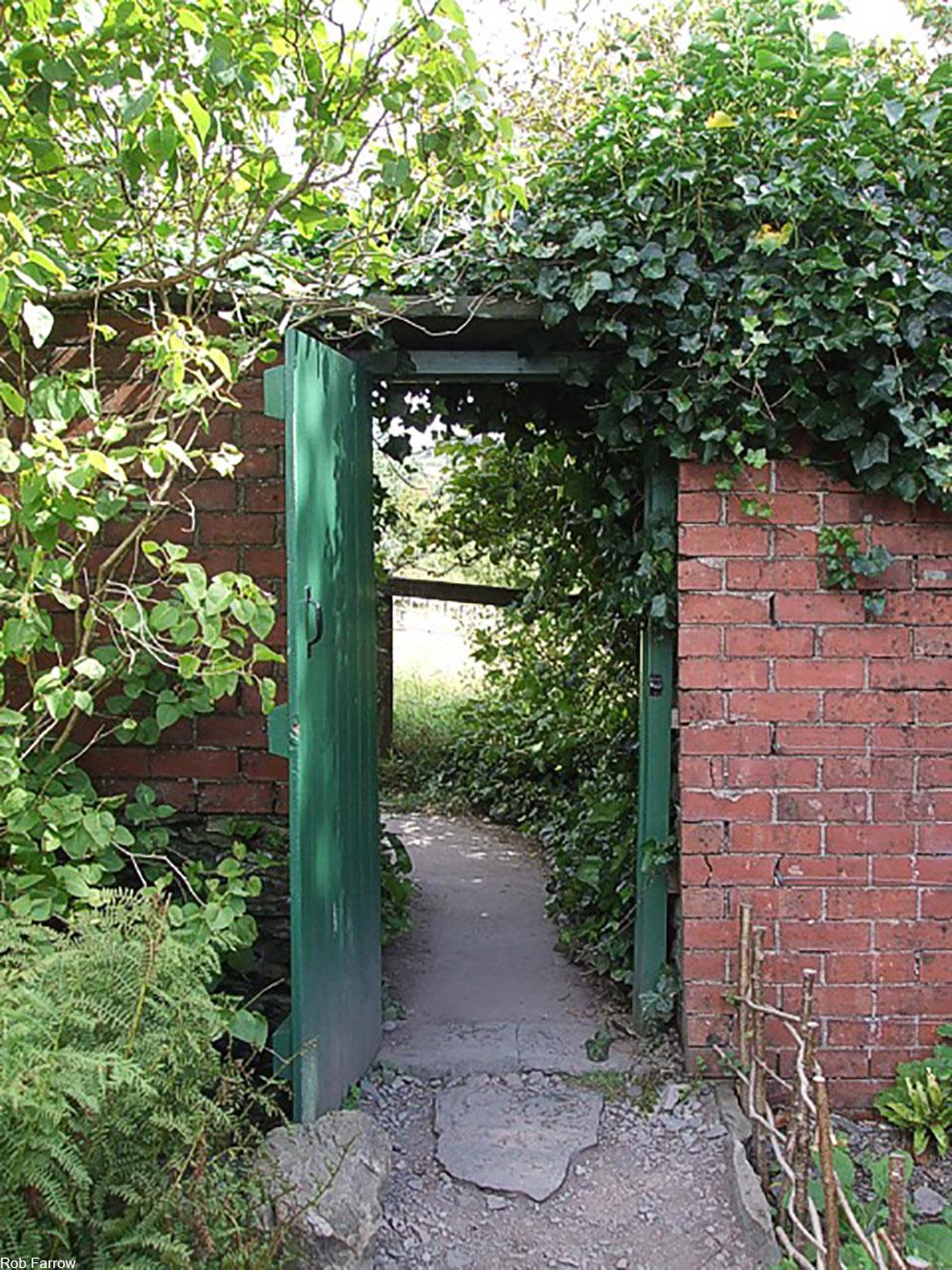 Hill Top garden gate, Cumbria, UK