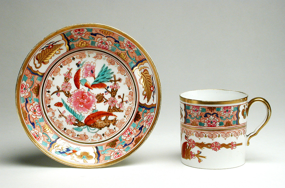 Spode gilt teacup and saucer from 1800