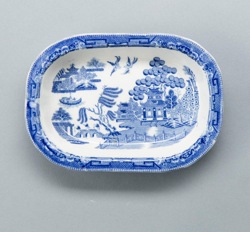 Spode blue willow pattern from the 1840s