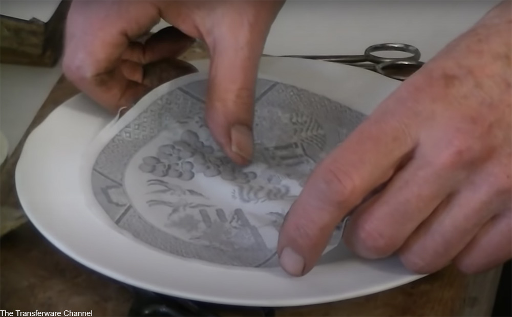 Spode transferware by-hand process