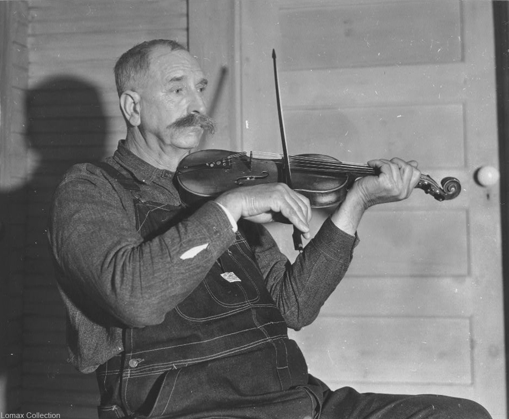 Davy Crockett Ward playing fiddle in 1937, recorded by Alan lomax