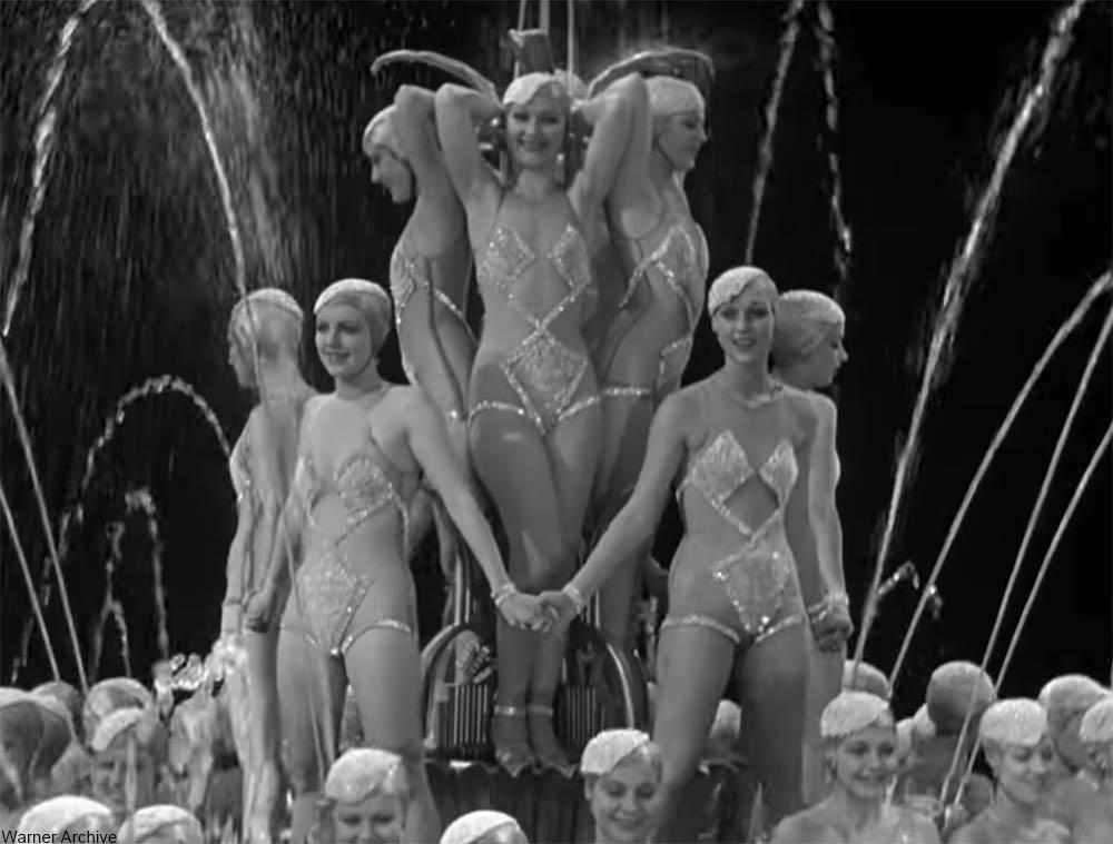 waterfall scene from Footlight Parade