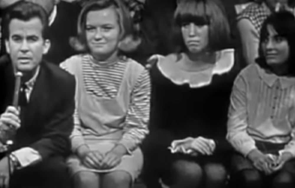 Dick Clark on American Bandstand in 1964